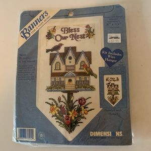 Bless our Nest- Counted Cross Stitch Unopened Kit